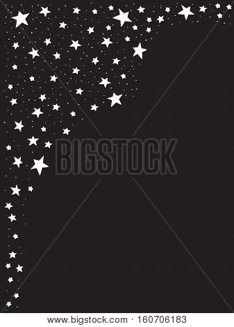 stars on the left  and empty center with black background