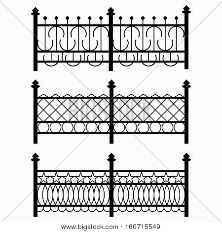 black fences collection of characters vector royalty free stock illustration