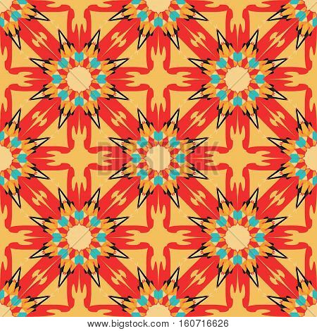 color tribal vintage seamless pattern vector royalty free stock illustration