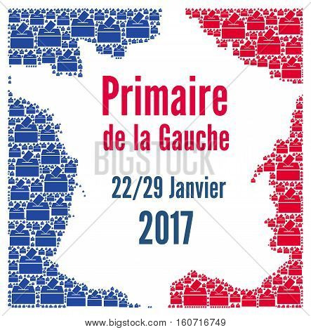 Socialist presidential primary called primaire de la gauche in French, France