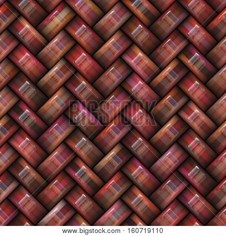 Twill Weave Texture. Abstract red Geometric Background Design. Seamless Multicolor Pattern.