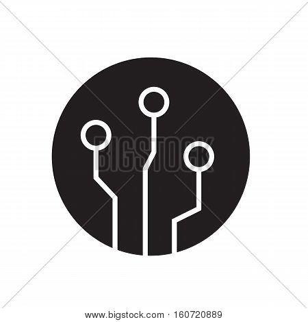 circuit board icon on white background. circuit board sign.
