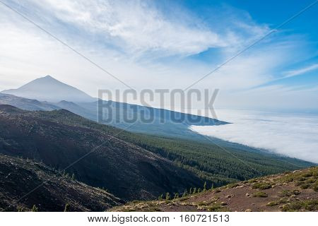 Forest, Mountain Landscape - Blue Sky And Clouds