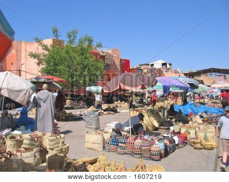 Souks Near Jemaa El Fna Place, Marrackech, Morocco