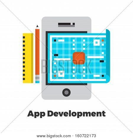 Application Development Flat Illustration.