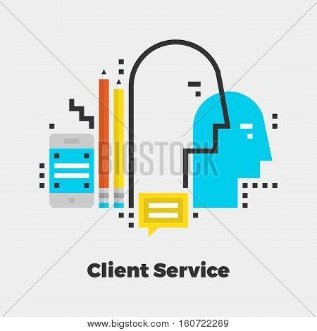 Client Service Flat Illustration