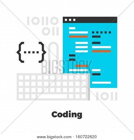 Coding Flat Illustration