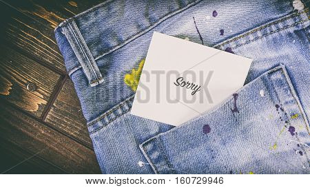 Jeans Pocket Jeans In The Paint, A Note On The Paper