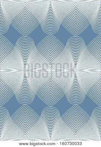 Illusive abstract seamless pattern with geometric figures. Vector symmetric simple backdrop.