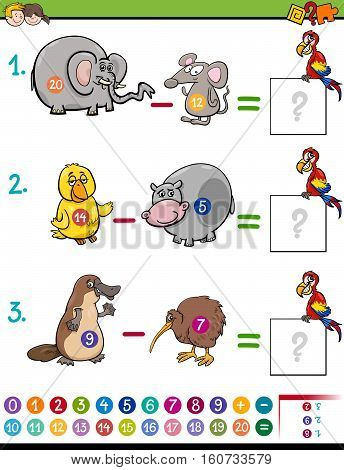 Subtraction Educational Game For Kids