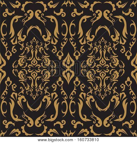 Damask seamless classic pattern. Vintage Baroque delicate background. Classic ornament for wallpapers textile fabric. Exquisite floral baroque template.