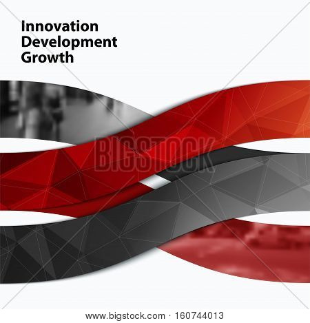 Business vector design elements for graphic layout. Modern abstract background template with wave, soft shapes, and lines for IT, business, building in clean minimal style.