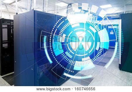 modern supercomputer clusters in the room data center