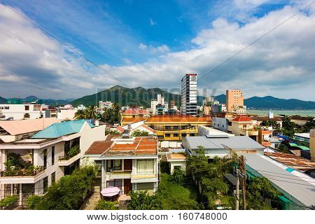 A skyline view of north Nha Trang Vietnam.