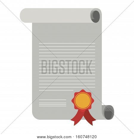 Diploma icon. University education school and college theme. Isolated design. Vector illustration