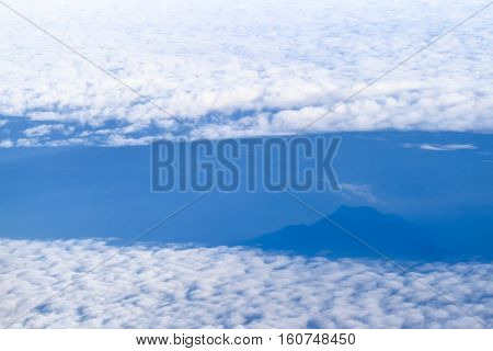 cloudscape abstract background look like glacier on sea