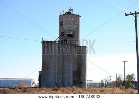 Old Grain Elevator from the past still standing
