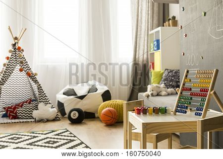 Colourful Room With Wooden Toy