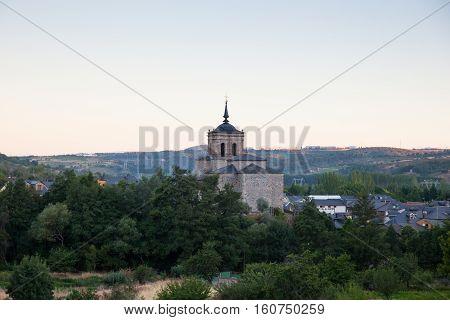 Viewe of the Church of San Nicola da Bari in Molinaseca Spain
