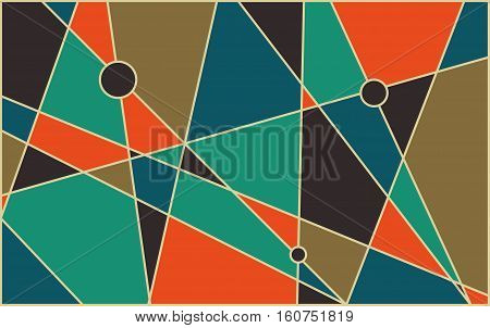 Abstract geometric mid century vector background. Retro space poster design.