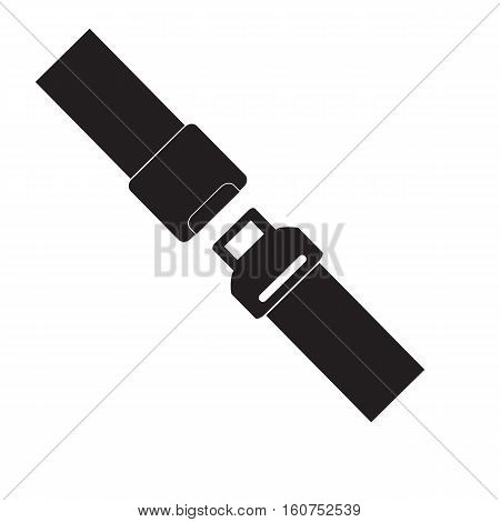 Safety belt icon isolated on white background. Safety belt sign.Trendy Simple vector symbol for web site design or button to mobile app. Logo illustration