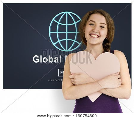 Global Network Communication Conection Concept