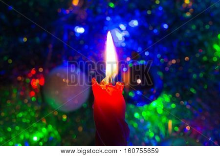 Red Christmas Candle.