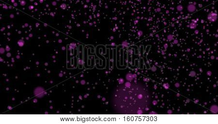 Dust particles bokeh background purple stylish glowing colorful orbs suitable