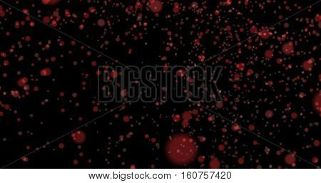Dust particles bokeh background red stylish glowing colorful orbs suitable