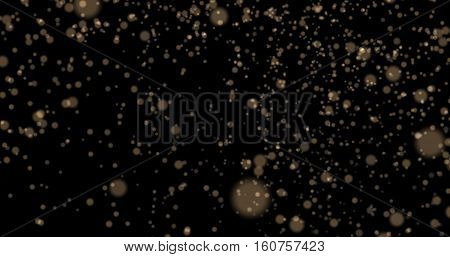 Dust particles bokeh background light yellow stylish glowing colorful orbs suitable