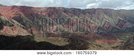 Hornocal mountains near Humahuaca on Argentina andes