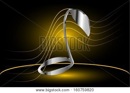 Music note vector , note and stave ,