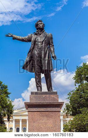 Famous Poet Alexander Pushkin Statue, Saint Petersburg