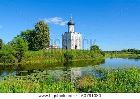 Church of Intercession on Nerl near village of Bogolyubovo Vladimir region Russia