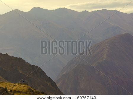 Colca canyon is one of the deepest canyons in the world.