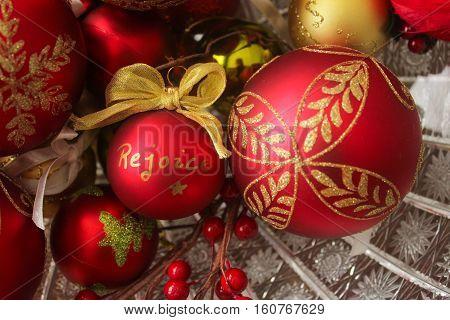 Decorative Christmas Balls, Rejoice Left