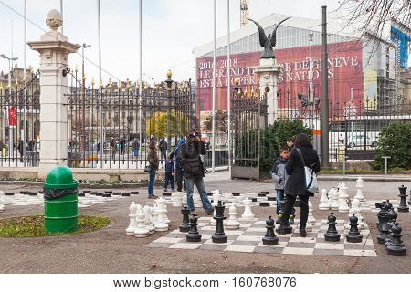 Ordinary People Play Street Chess