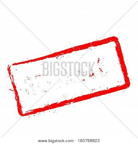 Reliable Red Rubber Stamp Isolated On White Background. Grunge Rectangular Seal With Text, Ink Textu