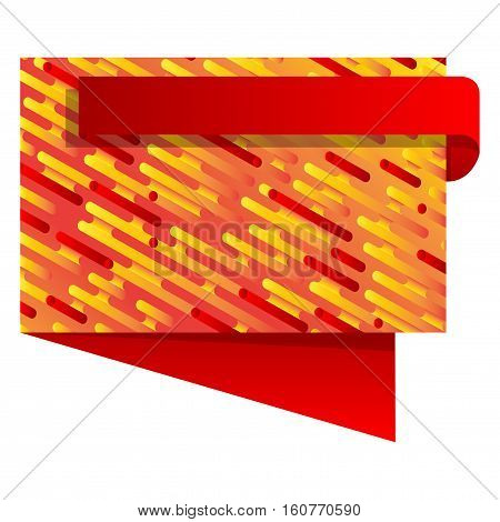Vector banner set with with irregular rounded lines on the front.