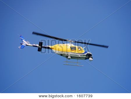 live television transmission from onboard camera on news helicopter poster