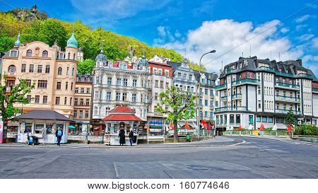 Architecture At Promenade In Karlovy Vary In Czech Republic