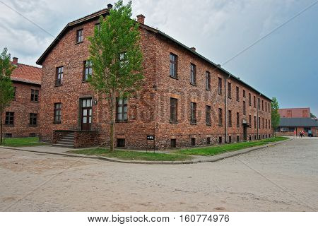 Dormitory Of Auschwitz Concentration Camp