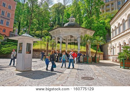 Freedom Spring And Promenade Of Karlovy Vary