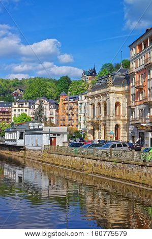 Opera House At Embankment In Karlovy Vary