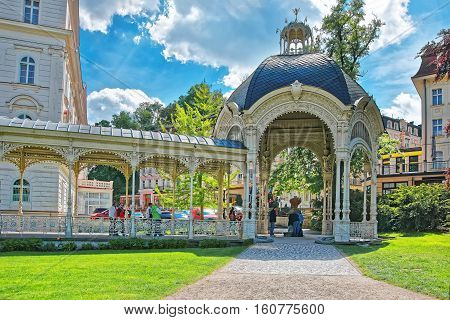 Park Colonnade Of Karlovy Vary Czech Republic