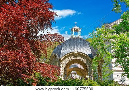 Park Colonnade With Wooden Alcove Of Karlovy Vary