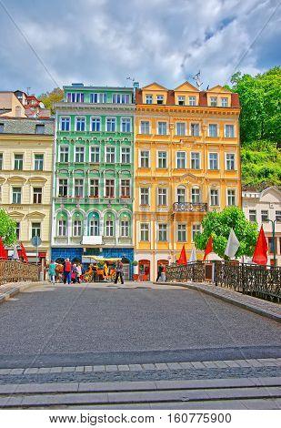 Promenade And Historical Street Karlovy Vary