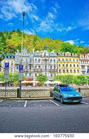 Promenade At Historical Street Karlovy Vary