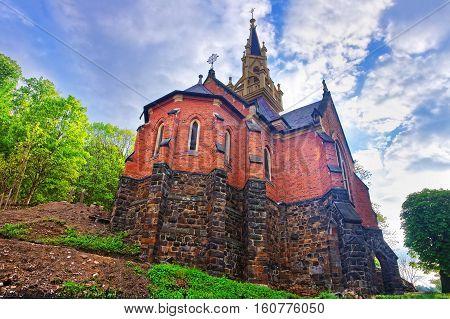 Saint Luke Church On Castle Hill In Karlovy Vary