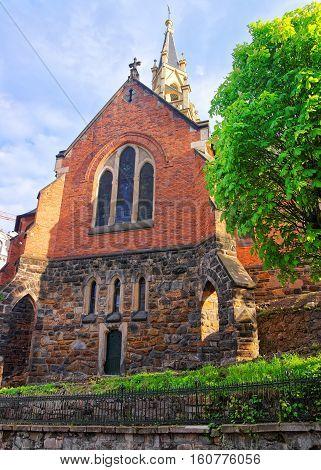 Saint Luke Church On Castle Hill Karlovy Vary